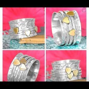 BOHO Spinner Ring-Size 7-Sterling Silver-NEW NIB!